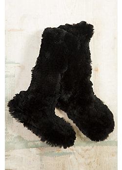 Knitted Rabbit Fur Slipper Socks