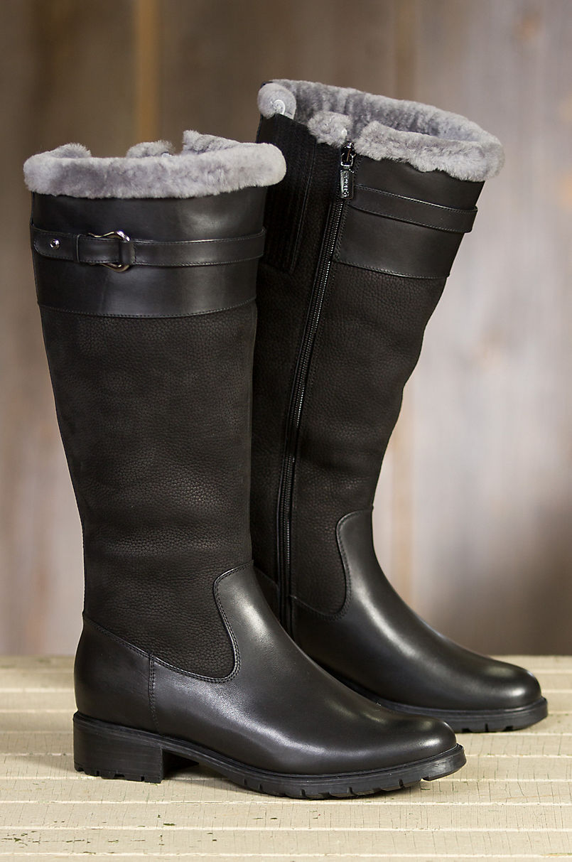 bc4829b5b Women's Blondo Via Shearling-Lined Waterproof Leather Boots | Overland