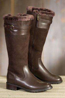 Women's Blondo Via Shearling-Lined Waterproof Leather Boots