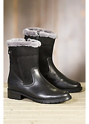 Women's Blondo Victory Shearling-Lined Waterproof Leather Short Boots