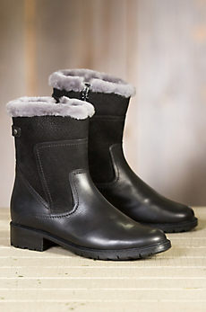 Women's Blondo Victory Shearling-Lined Waterproof Leather Boots