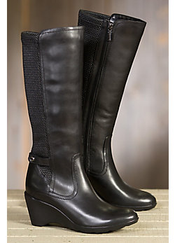 Women's Blondo Lauren Fleece-Lined Leather Boots