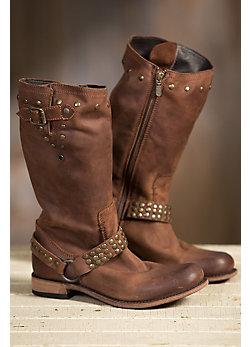 Women's Liberty Black Leather Cowboy Boots