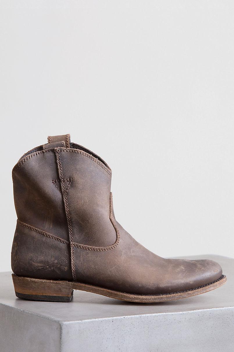 0b9d90fd85 Women's Liberty Black American Distressed Leather Short Cowboy Boots ...