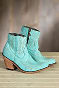 Women's Liberty Black Short Nubuck Turqueza Leather Boots
