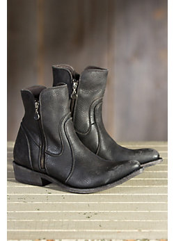Men's Liberty Black Muestra Distressed Leather Boots