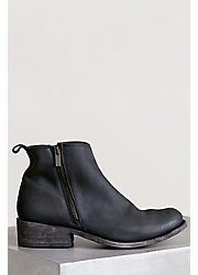 Men's Liberty Black Distressed Leather Short Boots