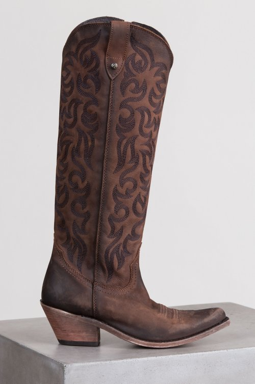 Women's Liberty Black Embroidered Leather Boots