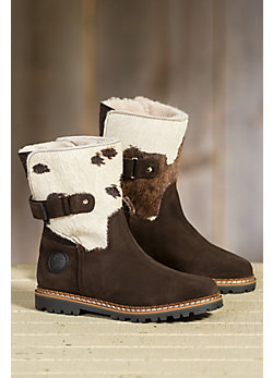 Women's Ammann Zinal Shearling-Lined Suede and Cowhide Leather Boots