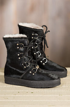 Women's Ammann Zermatt Shearling-Lined Cowhide Leather Boots