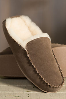 Men's Overland Bruno Suede Sheepskin Mule Slippers