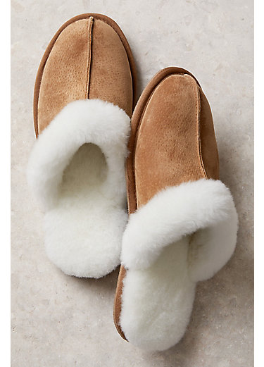 Women's Overland Shirley Shearling-Lined Suede Scuff Slippers