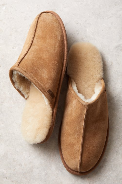 Men's Classic Shearling-Lined Scuff Slippers
