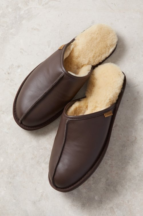 Men S Clic Shearling Lined Scuff Slippers