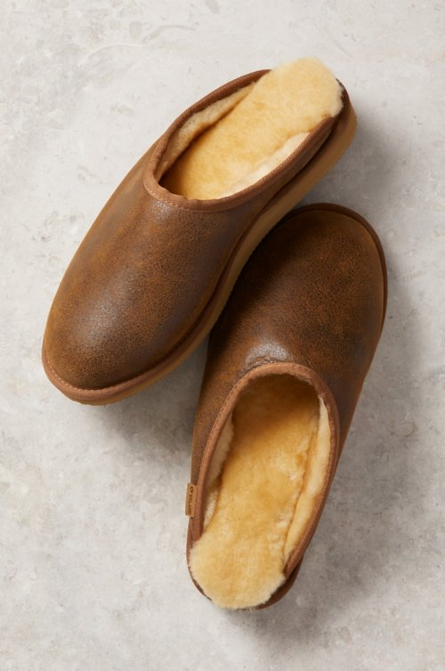 Men's Clyde Australian Merino Sheepskin Mule Slippers with Arch Support