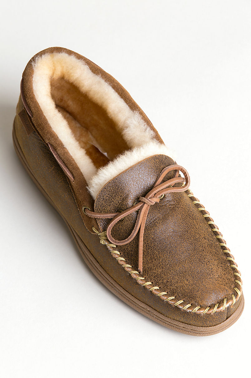 de8e901ed7c3dc Men's Blake High-Back Merino Sheepskin Moccasin Slippers | Overland