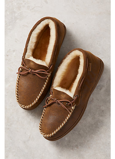 Men's Overland Blake High-Back Merino Sheepskin Moccasin Slippers