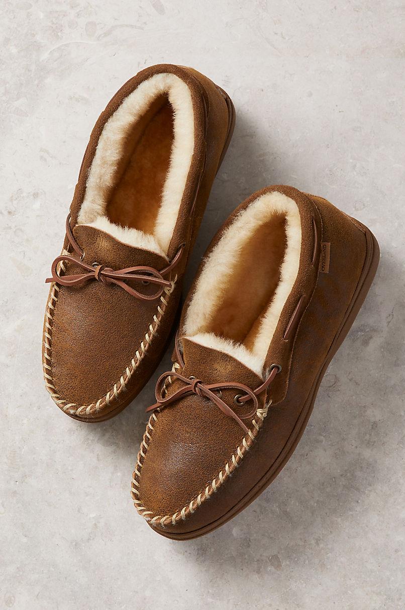 Men's Blake High-Back Merino Sheepskin Moccasin Slippers