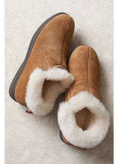 Women's Overland Terra Shearling-Lined Cowhide Suede Slipper Shoes