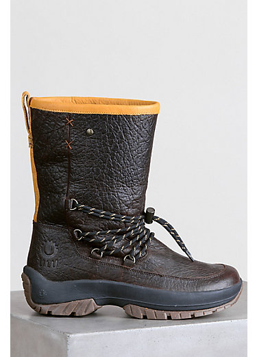 Men's Aniu Shearling-Lined American Bison Leather Boots