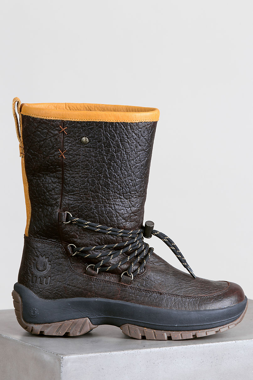 Men's Ulu Aniu Shearling-Lined American Bison Leather Boots