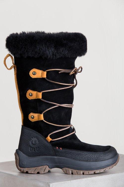 Women's Ulu Nanuq Shearling-Lined American Cowhide Suede Boots