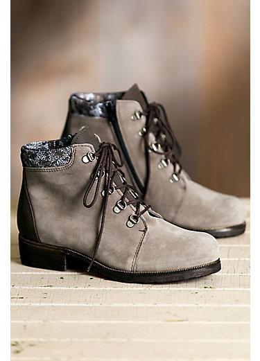 Women's Caline Wool-Lined Waterproof Italian Suede Ankle Boots