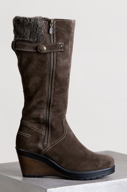 Women's Lourdes Wool-Lined Waterproof Italian Suede Boots