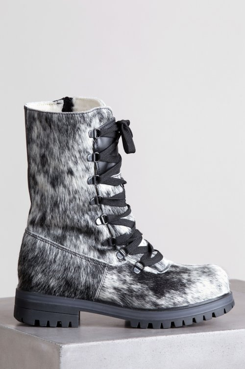 Women's Marianne Wool-Lined Waterproof Brazilian Cowhide Fur Boots