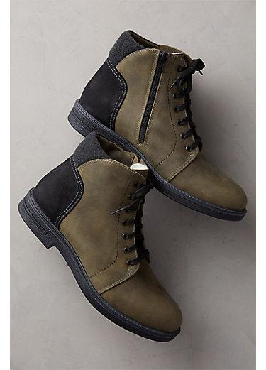 Men's Clement Wool-Lined Waterproof Italian Leather Boots