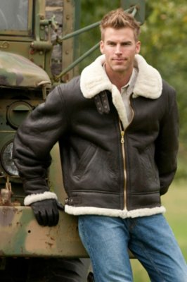 Men's Sheepskin B-3 Bomber Jacket (Big) | Overland