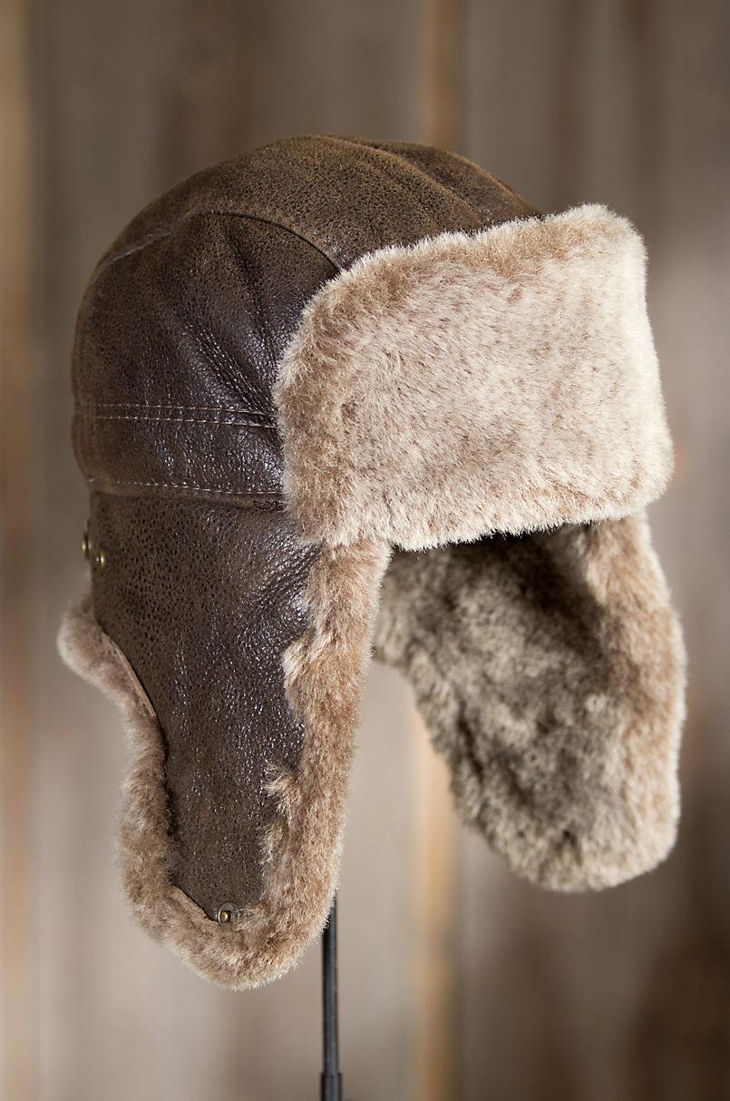 5151349d0ef Shearling Sheepskin Trapper Hat