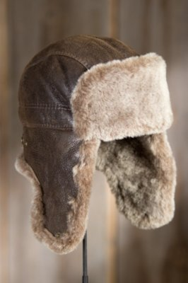 Shearling Sheepskin Trapper Hat