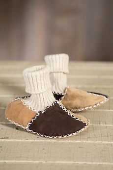 Children's Shearling Sheepskin Slipper Booties
