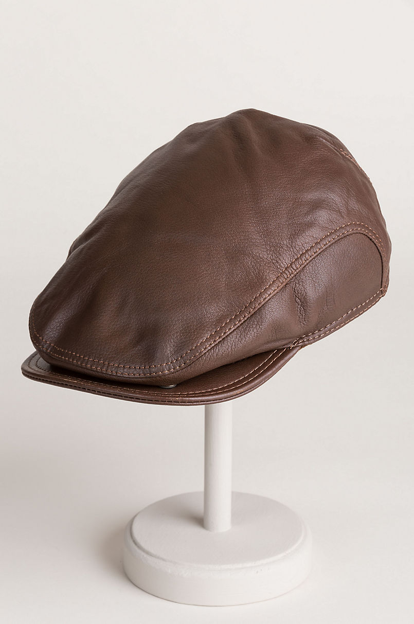 f27f19cfbe3ae3 Allen Leather Ivy Cap with Shearling Earflaps | Overland