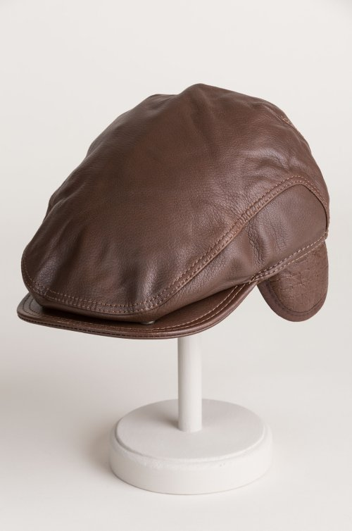 4d333c5e1dc Allen Leather Ivy Cap with Shearling Earflaps