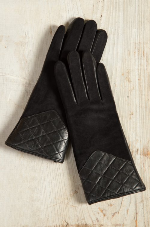 Women's Bay Sheepskin Gloves with Quilted Leather Trim