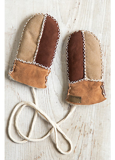 Infant Shearling Sheepskin Mittens