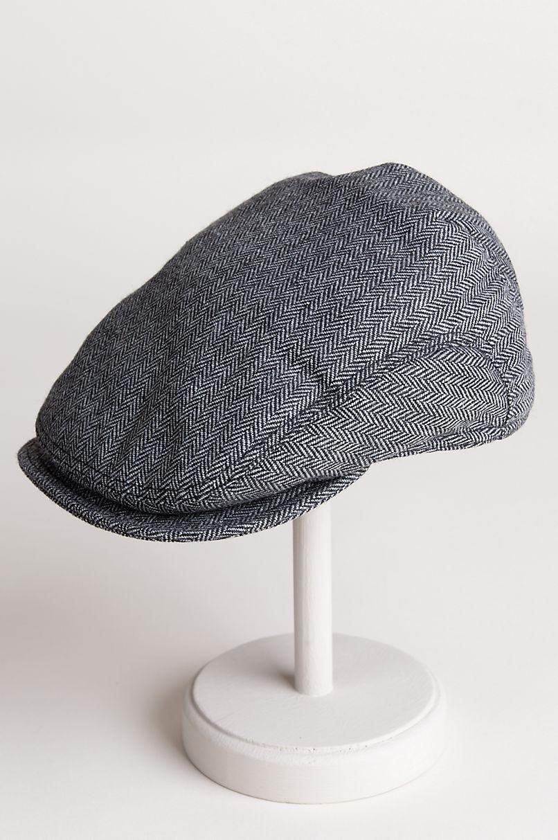 Ivy Wool Herringbone Cap with Shearling-Lined Earflaps