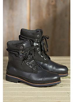 Men's Pajar Earl Flannel-Lined Waterproof Leather Boots