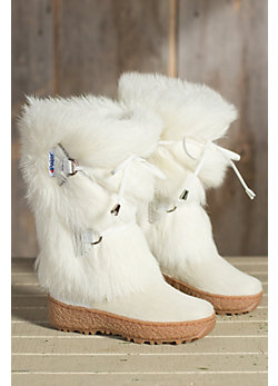 Children's Pajar Julia Shearling-Lined Goat Fur Boots