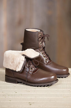 Men's Pajar Phil Shearling-Lined Waterproof Leather Boots