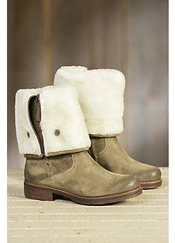 Women's Manas Perlita Tall Fold-Down Leather Boots