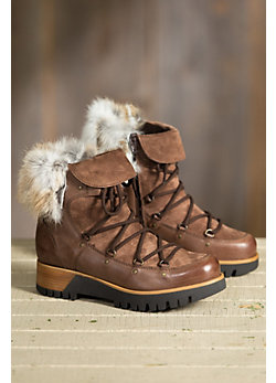 Women's Overland Lacey Fleece-Lined Boots with Rabbit Fur Trim