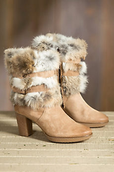 Women's Overland Elise Suede Boots with Rabbit Fur Trim