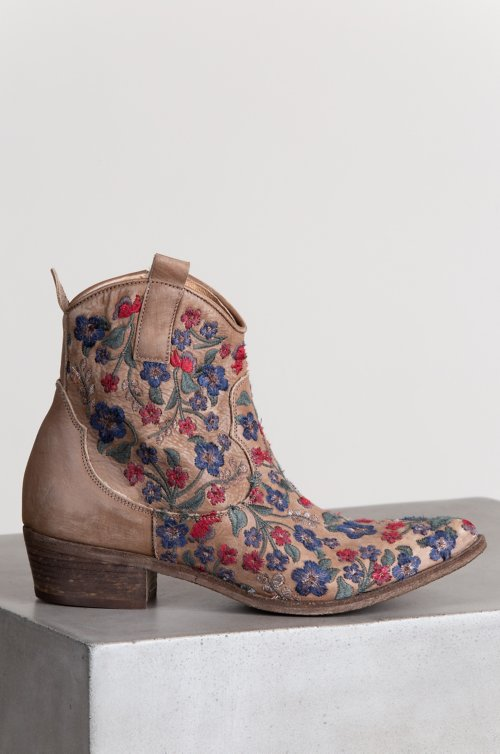 0ce282588 Women s Ariel Embroidered Leather Ankle Cowboy Boots