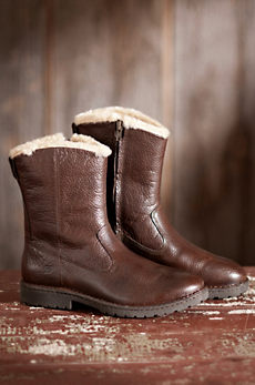 Men's Born Theodore Shearling-Lined Leather Boots