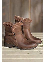 Women's Born Kaia Shearling-Lined Leather Short Boots
