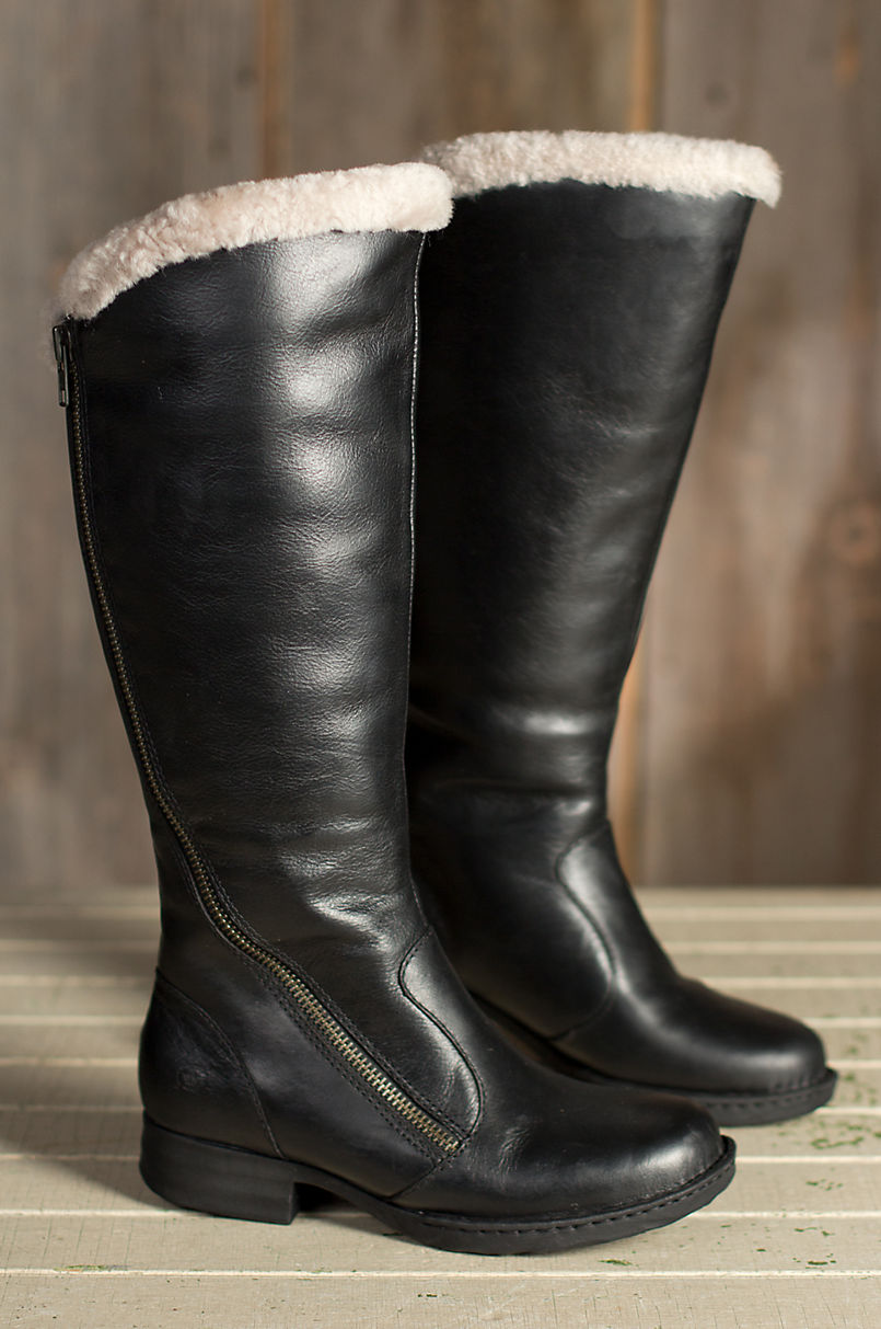 aac418cac1a Women s Born Muna Shearling-Lined Leather Boots