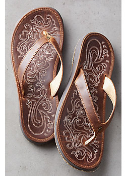 Women's Olukai Paniolo Leather Sandals
